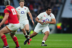Mako Vunipola of England in possession - Mandatory byline: Patrick Khachfe/JMP - 07966 386802 - 12/03/2016 - RUGBY UNION - Twickenham Stadium - London, England - England v Wales - RBS Six Nations.
