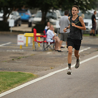 Payton Temple,18, of Saltillo wins this year's Green Street Mile Wednesdya morning in Tupelo.