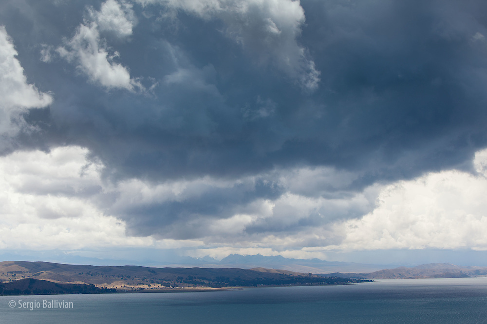 Lake Titicaca and the Cordillera Real of the Andes mountains of Bolivia are seen from different vantage points.