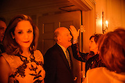 "Photo by Matt Roth.Assignment ID: 10137379A..Lobbyist Heather Podesta, left, enters the Dolley Madison Ballroom and Maureen Orth, Vanity Fair writer, and Tim Russert's widdow, left, talks to a guest at the Buffy and Bill Cafritz, Ann and Vernon Jordan, Vicki and Roger Sant threw an inaugural ""Bi-Partisan Celebration"" at the Dolley Madison Ballroom at the Madison Hotel in Washington, D.C. on Sunday, January 20, 2013."