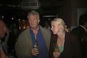 Rodney Marsh and Nicky Anderson, Drinks at OQO, Islington Green  after  screening of ' Once In a Lifetime-Thje extraordinary Story of the New York Cosmos at the Screen On the Green, Islington. London. 15 May 2006. ONE TIME USE ONLY - DO NOT ARCHIVE  © Copyright Photograph by Dafydd Jones 66 Stockwell Park Rd. London SW9 0DA Tel 020 7733 0108 www.dafjones.com