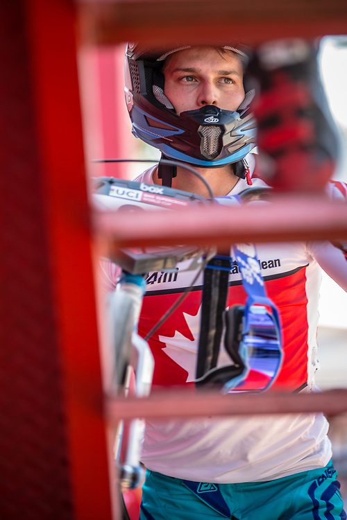 #66 (PALMER James) CAN  at Round 9 of the 2019 UCI BMX Supercross World Cup in Santiago del Estero, Argentina