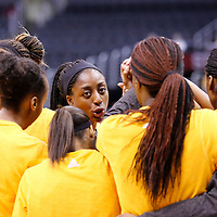 22 June 2014: forward Nneka Ogwumike (30) of the Los Angeles Sparks talks to her teammates during the San Antonio Stars 72-69 victory over the Los Angeles Sparks, at the Staples Center, Los Angeles, California, USA.