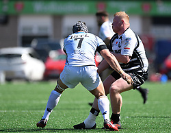 Pontypridds Keiran Assiratti<br /> Pontypridd RFC v Cardiff RFC<br /> <br /> Photographer Mike Jones / Replay Images<br /> Sardis Road, Pontypridd.<br /> Wales - 5th May 2018.<br /> <br /> Pontypridd RFC v Cardiff RFC<br /> Principality Premiership<br /> <br /> World Copyright © Replay Images . All rights reserved. info@replayimages.co.uk - http://replayimages.co.uk