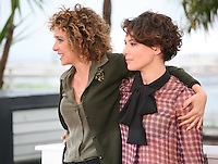 Director Valeria Golino and Actress, Jasmine Trinca at the Miele film photocall at the Cannes Film Festival 18th May 2013