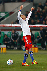 26.11.2011, AWD Arena, Hannover, GER, 1.FBL, Hannover 96 vs Hamburger SV, im Bild Paolo Guerrero (Hamburg #9) // during the Match GER, 1.FBL, Hannover 96 vs Hamburger SV, AWD Arena, Hannover, Germany, on 2011/11/26. EXPA Pictures © 2011, PhotoCredit: EXPA/ nph/ Schrader..***** ATTENTION - OUT OF GER, CRO *****