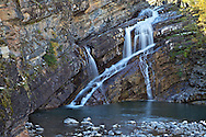 Autumn at Cameron Falls in Waterton Lakes National Park