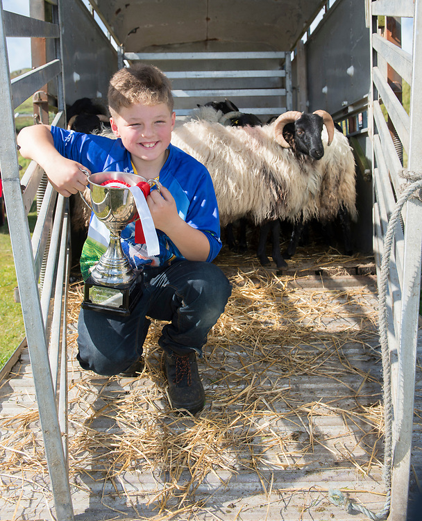 Clare Island Ram Fair &amp; Sheep Dog Trials.<br /> Michael Oliver puting his dog &quot;Blakey&quot; to the test. Pic: Michael Mc Laughlin
