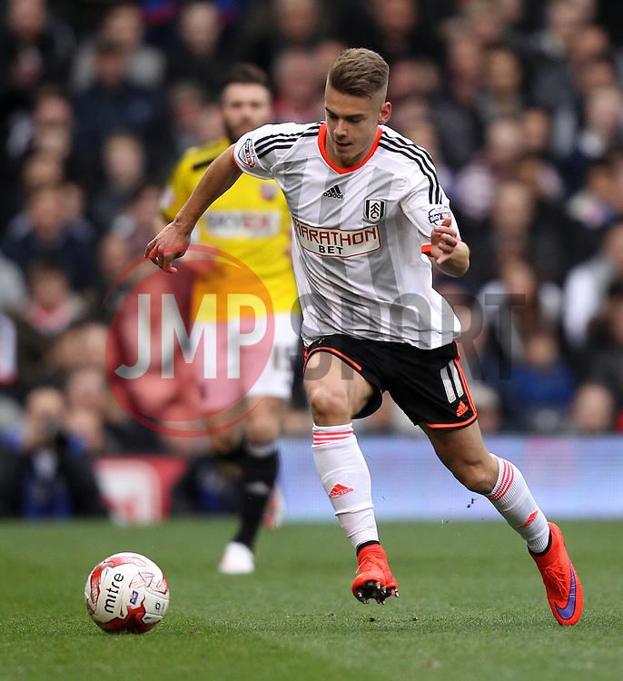 Fulham's Alex Kacaniklic - Photo mandatory by-line: Robbie Stephenson/JMP - Mobile: 07966 386802 - 03/04/2015 - SPORT - Football - Fulham - Craven Cottage - Fulham v Brentford - Sky Bet Championship