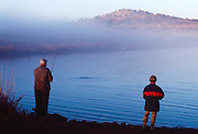 Adam Pratt and James F Pratt fishing at Wichita Mountain Wildlife Refuge