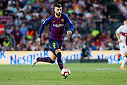 Gerard Pique of FC Barcelona during the Spanish championship La Liga football match between FC Barcelona and Huesca on September 2, 2018 at Camp Nou Stadium in Barcelona, Spain - Photo Xavier Bonilla / Spain ProSportsImages / DPPI / ProSportsImages / DPPI