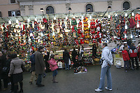 Christmas market fair in Rome Italy