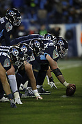 The Tennessee Titans offensive line in action during the week 14 regular season NFL football game against the Jacksonville Jaguars on Thursday, Dec. 6, 2018 in Nashville, Tenn. The Titans won the game 30-9. (©Paul Anthony Spinelli)