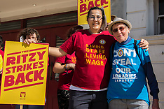 24 Sept 2016 - Ritzy cinema staff strike for living wage.
