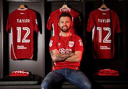 Matty Taylor poses at Ashton Gate Stadium after joining Bristol City from Bristol Rovers - Mandatory by-line: Joe Meredith/JMP - 31/01/2017 - FOOTBALL - Ashton Gate Stadium - Bristol, England - Bristol City New Signing