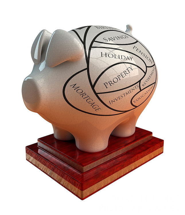 Phrenology Piggy Bank. Cut out.