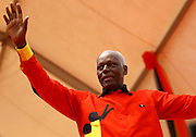 José Eduardo dos Santos, the president of the Republic of Angola and the MPLA number 1 candidate for the forthcoming general elections of August 31, during a political raly at November 11 Stadium - Luanda, today, August 29, last campaign day.