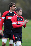 Ryan Jones © looks on. Wales rugby team training at the Vale, Hensol, near Cardiff in South Wales on Tuesday 13th November 2012.  pic by Andrew Orchard, Andrew Orchard sports photography,