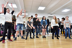 © Licensed to London News Pictures. 31/08/2017. London, UK. Young buskers hoping to be Gigs Champion 2017 take part in a boot camp with industry experts at music studios in the West End ahead of their upcoming Gigs Grand Final at Westfield London.  Gigs is the Mayor of London's annual busking competition for young songwriters and performers aged 11-25 years old.  Photo credit : Stephen Chung/LNP