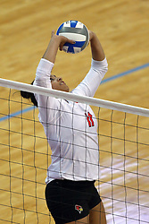 18 November 2016:  Jordan Weatherless during an NCAA women's volleyball match between the Northern Iowa Panthers and the Illinois State Redbirds at Redbird Arena in Normal IL (Photo by Alan Look)