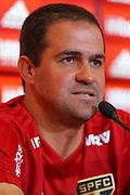 18.01.2019 - SÃO PAULO, SP - André Jardine, técnico do time do São Paulo, durante entrevista coletiva no CT da Barra Funda. ( Foto: Jales Valquer / FramePhoto )