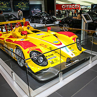 Porsche RS Spyder, powered by a 3.4-litre V8 engine. This Penske Racing car was driven in the USA by Romain Dumas and Timo Bernhard, here at the Geneva Motor Show 2008