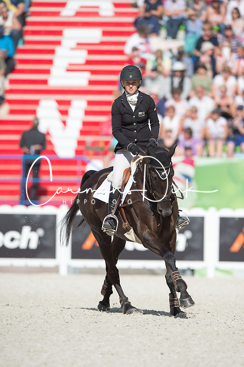 Jonelle Price, (NZL), Classic Moet - Jumping Eventing - Alltech FEI World Equestrian Games™ 2014 - Normandy, France.<br /> © Hippo Foto Team - Jon Stroud<br /> 31-08-14