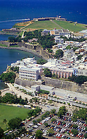 Aerial view from Paseo La Princesa to El Morro