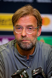 CHARLOTTE, USA - Saturday, July 21, 2018: Liverpool's manager Jürgen Klopp during a press conference at the Bank of America Stadium ahead of a preseason International Champions Cup match between Borussia Dortmund and Liverpool FC. (Pic by David Rawcliffe/Propaganda)