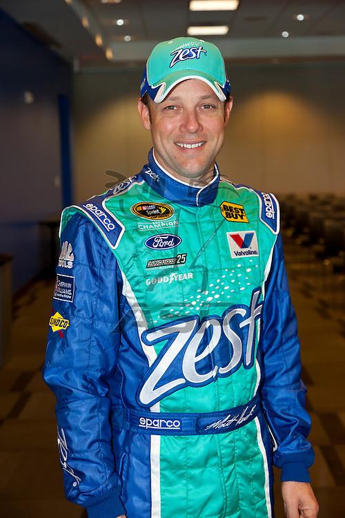 LAS VEGAS, NV - MAR 09, 2012:  Ricky Stenhouse, Jr. (6) wins the Sams Town 300 race at the Las Vegas Motor Speedway in Las Vegas, NV.