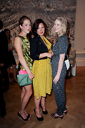 Left to right, ROSE VAN CUTSEM, BEATRICE HODGKIN and LADY MARY DOUGLAS-HOME at the Royal Academy of Arts Summer Party held at Burlington House, Piccadilly, London on 9th June 2010.