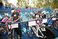 Christopher McCormack (AUS) and Craig Alexander (AUS). Noosa Triathlon. 2012 Noosa Triathlon Festival. Noosa, Queensland, Australia. 04/11/2012. Photo By Lucas Wroe