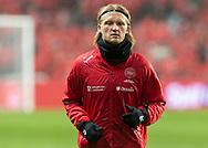 Kasper Dolberg (Danmark) under opvarmningen til EM Kvalifikationskampen mellem Danmark og Gibraltar den 15. november 2019 i Telia Parken (Foto: Claus Birch).