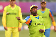 Muthiah Muralitharan of the Chennai Super Kings during the Superkings training session held at St Georges Park in Port Elizabeth on the 20 September 2010..Photo by: Shaun Roy/SPORTZPICS/CLT20