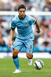 Samir Nasri of Manchester City in action - Photo mandatory by-line: Rogan Thomson/JMP - 07966 386802 - 30/08/2014 - SPORT - FOOTBALL - Manchester, England - Etihad Stadium - Manchester City v Stoke City - Barclays Premier League.