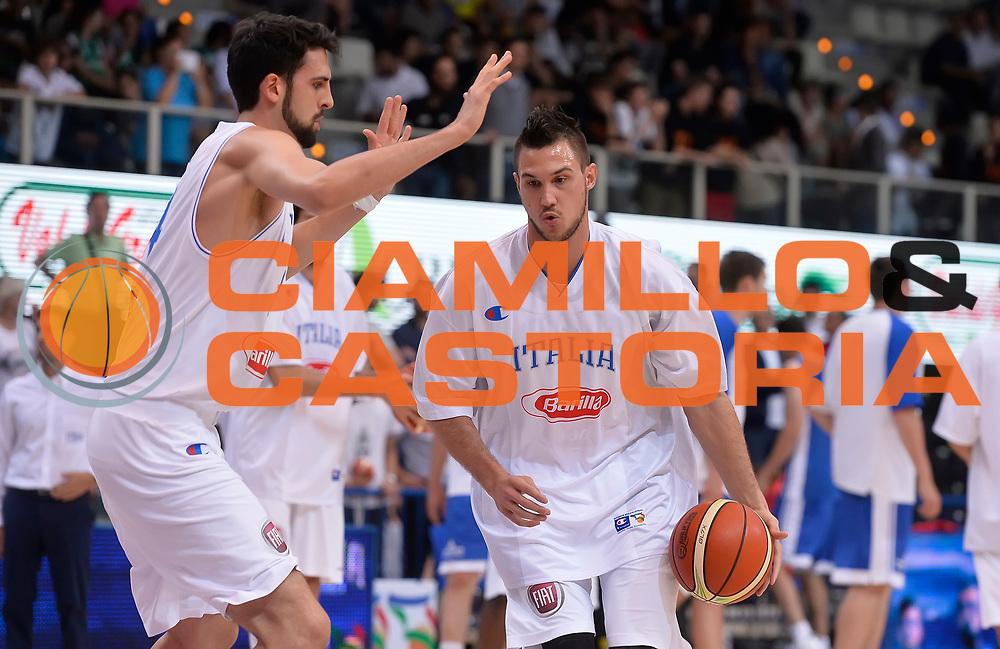 DESCRIZIONE : Trento Nazionale Italia Uomini Trentino Basket Cup Italia Repubblica Ceca Italy Czech Republic<br /> GIOCATORE : Danilo Gallinari<br /> CATEGORIA : pregame before<br /> SQUADRA : Italia Italy<br /> EVENTO : Trentino Basket Cup<br /> GARA : Trentino Basket Cup Italia Repubblica Ceca Italy Czech Republic<br /> DATA : 17/06/2016<br /> SPORT : Pallacanestro<br /> AUTORE : Agenzia Ciamillo-Castoria/R.Morgano<br /> Galleria : FIP Nazionali 2016<br /> Fotonotizia : Trento Nazionale Italia Uomini Trentino Basket Cup Italia Repubblica Ceca Italy Czech Republic