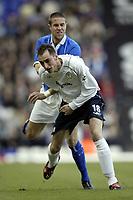 Photo. Aidan Ellis, Digitalsport<br /> Birmingham City v Bolton Wanderers.<br /> FA Barclaycard Premiership.<br /> 06/03/2004.<br /> Birmingham's Matthew Upson tangles with Bolton's Nicky Hunt