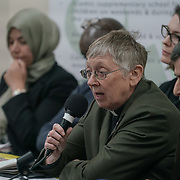 London, Uk. 15th October 2017. Rev. Jennifer Potter – Chair, Islington Faiths Forum join the discussion Hate Crime Against Muslim Women.