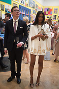 PATRICK CUNNINGHAM; NOREEN GOODWIN, Royal Academy Summer Exhibition party. Burlington House. Piccadilly. London. 6 June 2018