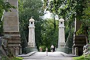 Hist. Hängebrücke Kressbronn, Langenargen, Bodensee, Baden-Württemberg, Deutschland