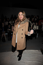 MELANIE BLATT at the Issa Autumn Winter 2011 fashion show as part of the London Fashion Week held at Somerset House, Strand, London on 19th February 2011.