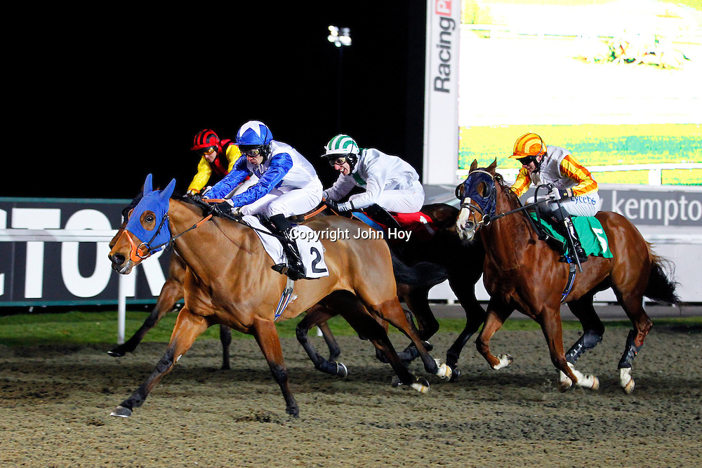 Mr Optimistic and S M Levey winning the 7.00 race