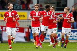 Barnsley players celebrate after a goal for Sam Winnall (centre, number 9) to make it 1-1 - Photo mandatory by-line: Rogan Thomson/JMP - 07966 386802 - 25/10/2014 - SPORT - FOOTBALL - Barnsley, England - Oakwell Stadium - Barnsley v Bristol City - Sky Bet League 1.