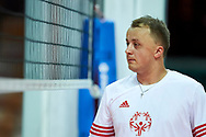 Katowice, Poland - 2017 September 02: Partner Rafal Skoczylas from SO Poland looks through the net while SO Poland versus SO Czech Republic match during European Unified Volleyball Tournament 2017 at Spodek Hall on September 02, 2017 in Katowice, Poland.<br /> <br /> Adam Nurkiewicz declares that he has no rights to the image of people at the photographs of his authorship.<br /> <br /> Picture also available in RAW (NEF) or TIFF format on special request.<br /> <br /> Any editorial, commercial or promotional use requires written permission from the author of image.<br /> <br /> Image can be used in the press when the method of use and the signature does not hurt people on the picture.<br /> <br /> Mandatory credit:<br /> Photo by © Adam Nurkiewicz / Mediasport