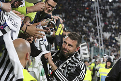May 19, 2019 - Turin, Piedmont, Italy - Andrea Barzagli greets the fans after his last match during the Serie A football match between Juventus FC and Atalanta BC at Allianz Stadium on May 19, 2019 in Turin, Italy. (Credit Image: © Massimiliano Ferraro/NurPhoto via ZUMA Press)