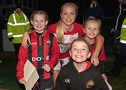 Poppy Pattinson of Bristol City poses with some supporters - Mandatory by-line: Paul Knight/JMP - 17/11/2018 - FOOTBALL - Stoke Gifford Stadium - Bristol, England - Bristol City Women v Liverpool Women - FA Women's Super League 1