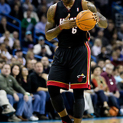 November 5, 2010; New Orleans, LA, USA;  Miami Heat small forward LeBron James (6) during a game against the New Orleans Hornets at the New Orleans Arena. The Hornets defeated the Heat 96-93. Mandatory Credit: Derick E. Hingle