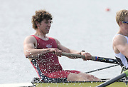 Eton, United Kingdom.  Men's Pair, Bow, Matt TARRANT,   Sat. time trial.  2011 GBRowing Trials, Dorney Lake. Saturday  16/04/2011  [Mandatory Credit; Peter Spurrier/Intersport-images] Venue For 2012 Olympic Regatta and Flat Water Canoe events.