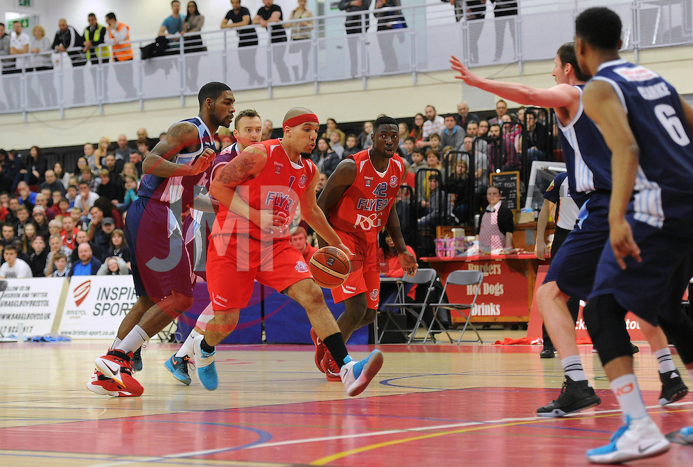 Greg Streete of Bristol Flyers - Mandatory byline: Dougie Allward/JMP - 12/03/2016 - FOOTBALL - SGS Wise Campus - Bristol, England - Bristol Flyers v Glassgow Rocks - British Basketball League