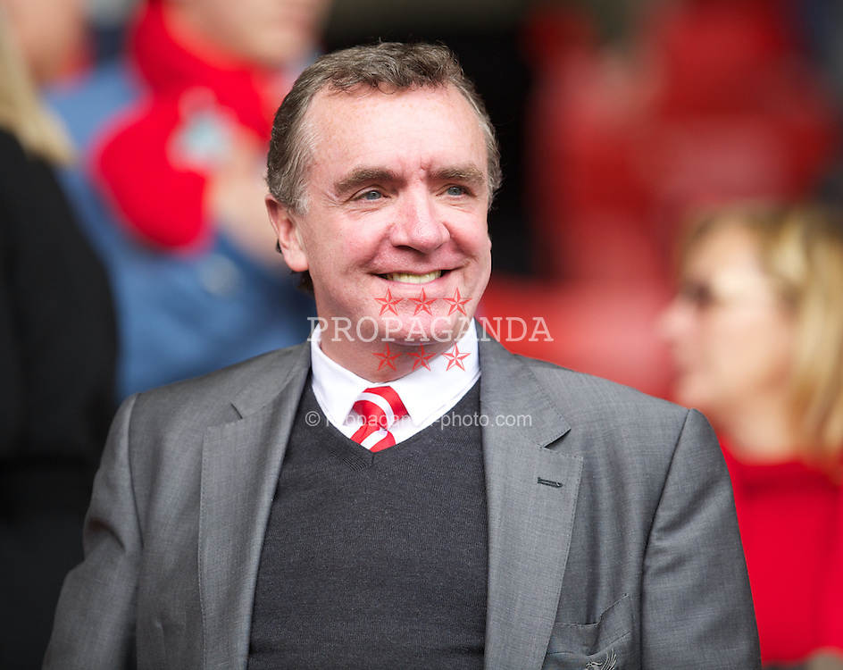 LIVERPOOL, ENGLAND - Saturday, April 7, 2012: Liverpool's Managing Director Ian Ayre during the Premiership match against Aston Villa at Anfield. (Pic by David Rawcliffe/Propaganda)